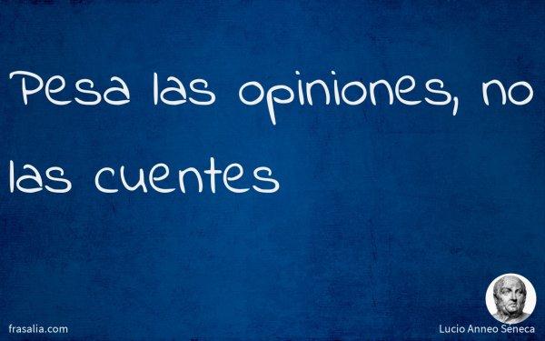 Pesa las opiniones, no las cuentes